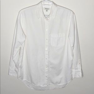 Madewell classic white button up oxford shirt XS